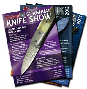 Knives UK Show Flyers of the years